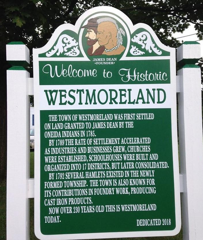 westmoreland sign